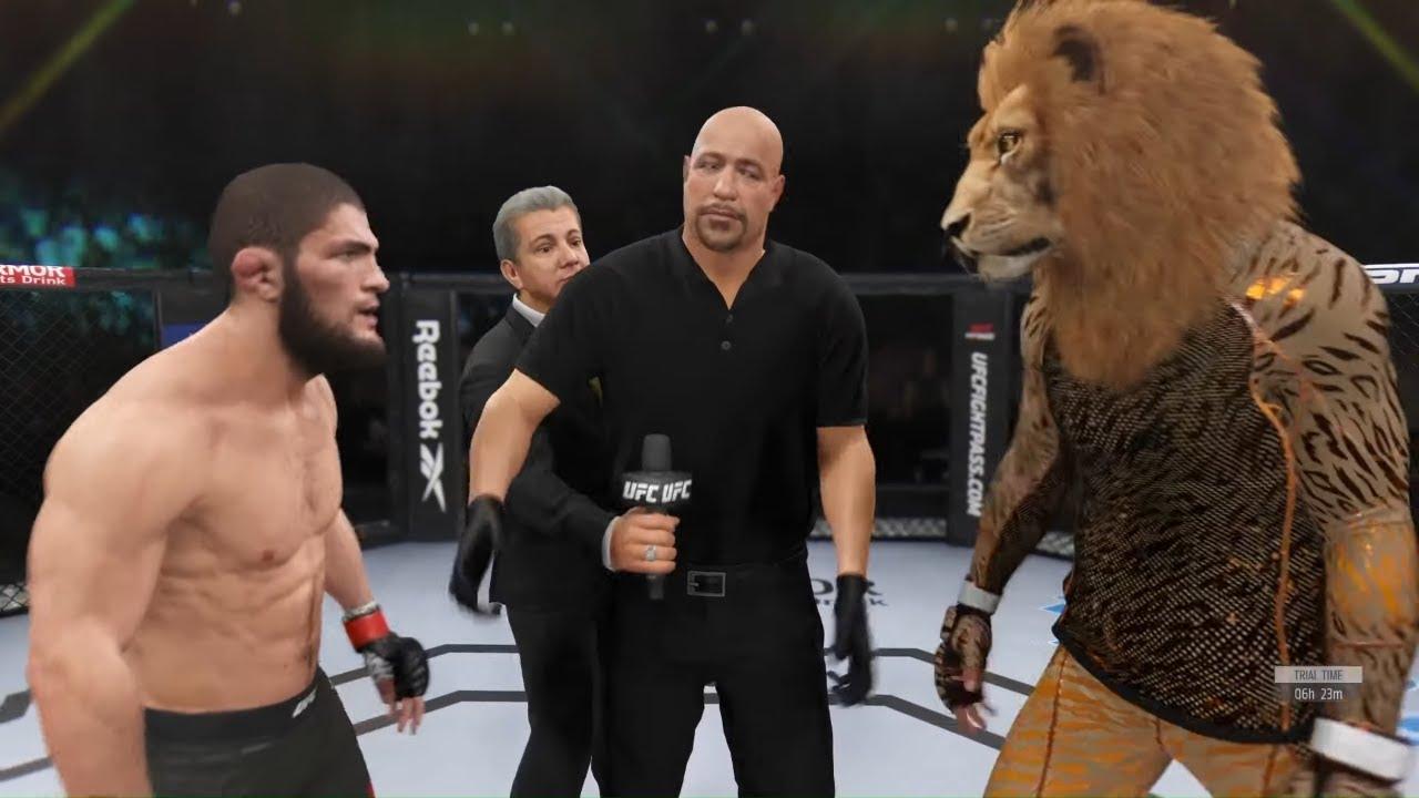 Khabib vs. Lion King - EA Sports UFC 4