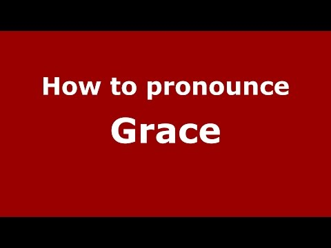How to say the name grace in french