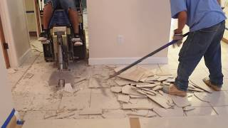 """Floor Removal Experts"" - Our Traditional Tile Removal"