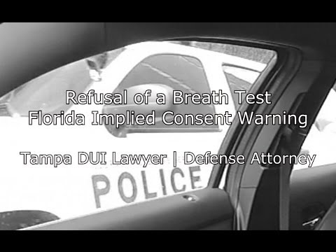 Will you Take this Test? DUI2Go http://dui2go.com and Tampa DUI Attorney |  Lawyer 813-222-2220 present video from inside a jail where a cop is administering Florida's Implied Consent warning...