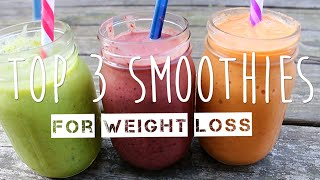 My Top 3 Weight Loss Smoothies + Boyfriend Taste Test | thatgirlshaexo
