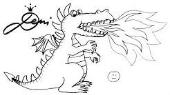 Drache schnell zeichnen lernen für Kinder 🐲 how to draw a dragon for children 🐉 realtime