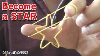 Repeat youtube video Stargazer magic trick 星になる 輪ゴム マジック (やり方)