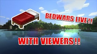 🔴Hypixel Bedwars Live ~WITH VIEWERS!!~ (Road to 280!!) Minecraft Bedwars Live!!!
