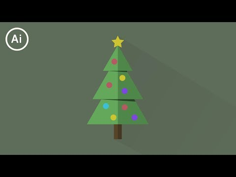 Minimal Flat Design Christmas Tree | Illustrator CC Tutorial