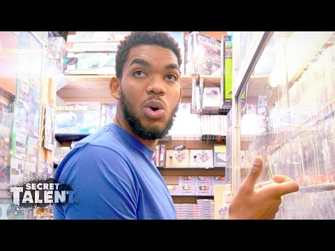 Karl-Anthony Towns Shows Off His Old School Video Game Skills