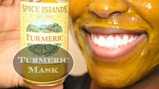 DIY Turmeric Mask | Before and After