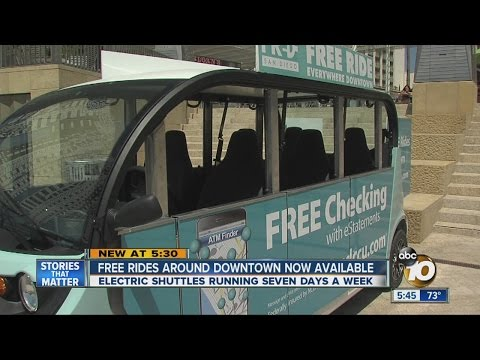 Free rides around downtown San Diego now available