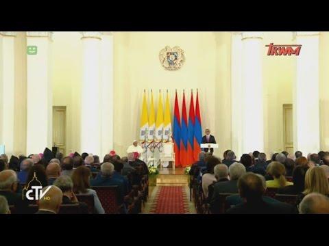 Podróż apostolska Ojca św. Franciszka do Armenii: wizyta w Pałacu Prezydenckim w Erywaniu
