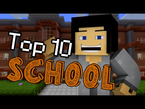 Minecraft School - TOP 10 MOMENTS OF SCHOOL!