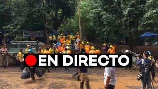 En directo: Rescate de los niños atrapados en una cueva en Tailandia
