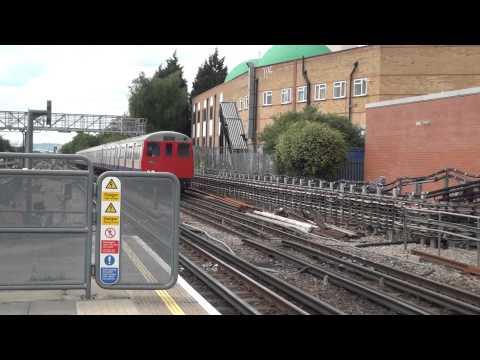 London Underground trains at Willesden Green HD