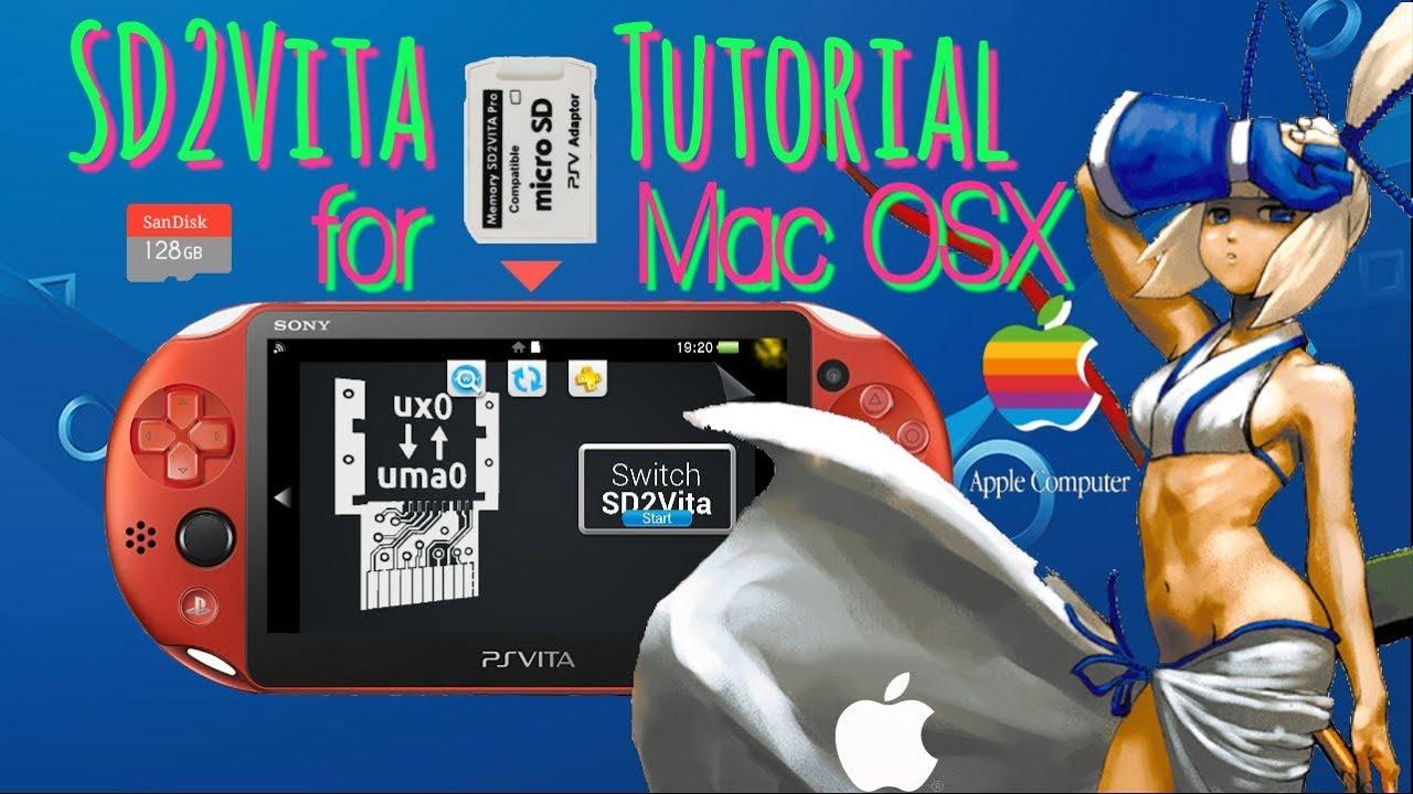 SD2Vita Tutorial for Mac / EASY Format & Setup for SD Adapter / PS Vita h-encore. Henkaku. enso - YouTube