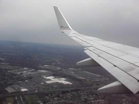 Landing at Bradley International Airport Hartford Connecticut
