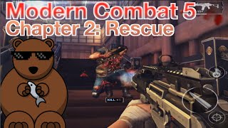 Modern Combat 5: Chapter 2 - Awakening: 04.Rescue (3 Stars Walkthrough)