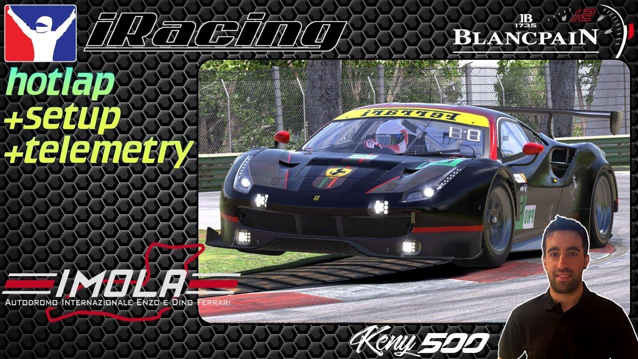 Iracing Hotlap @Imola// Ferrari 488 GT3// setup+telemetry 142,987  Christian Ortega