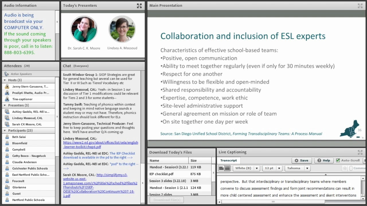 Excerpt 3: The Importance of Collaboration and ESL Experts for English  Learners' IEPs