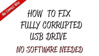 How to Fix Corrupted USB and Cyclic Redundancy Check Error