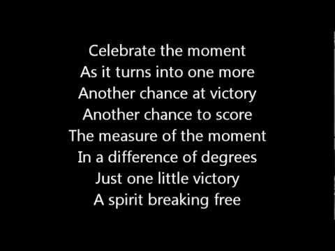 Rush-One Little Victory (Lyrics)