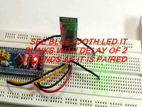 Interfacing Bluetooth HC-05 with STM32F103C8 Blue Pill: Controlling LED