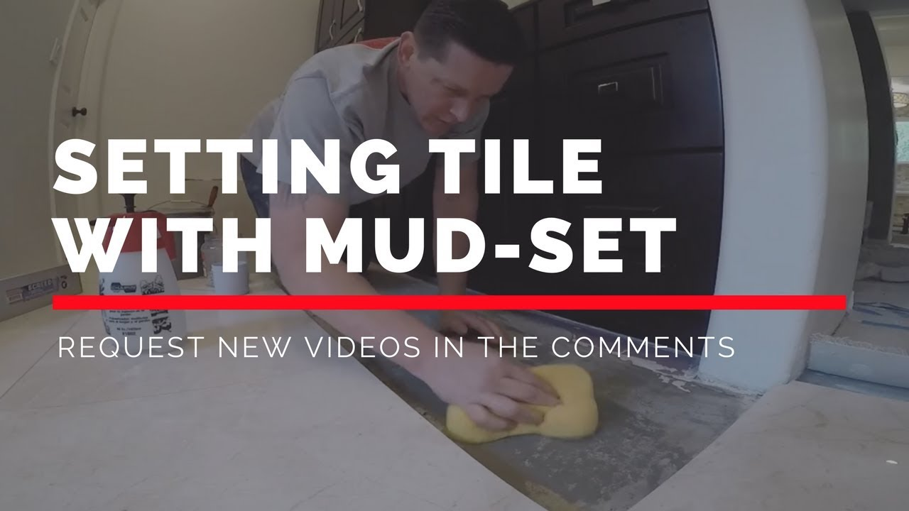 setting tile with mud set