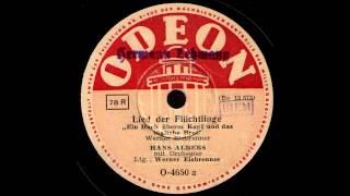 Lied der Flüchtlinge / Hans Albers mit Orchester
