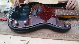 Painting a guitar black (+ painting technique) - precision bass