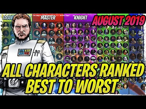 ALL CHARACTERS RANKED FROM BEST TO WORST - AUGUST 2019 | Star Wars: Galaxy Of Heroes