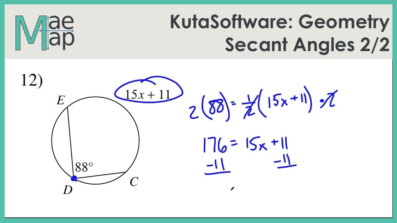 Kutasoftware Geometry Secant Angles Part 2 Youtube
