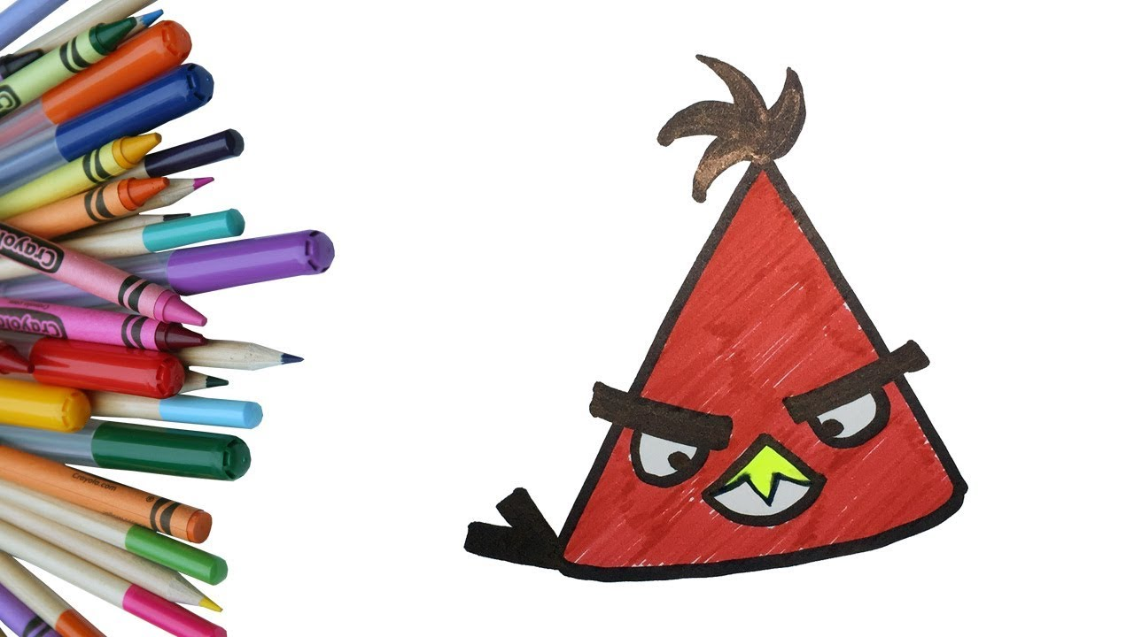 how to draw angry birds space step by step red