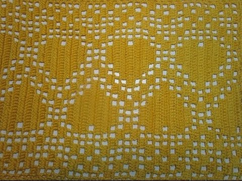 Uncinetto crochet centro tavola filet