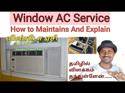 Window AC Service At Home || How To Service In Window Air Conditioning || Tamil | Asathal Tamil Tech