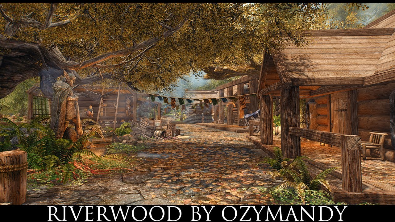 Skyrim SE Mods: Riverwood by Ozymandy - YouTube