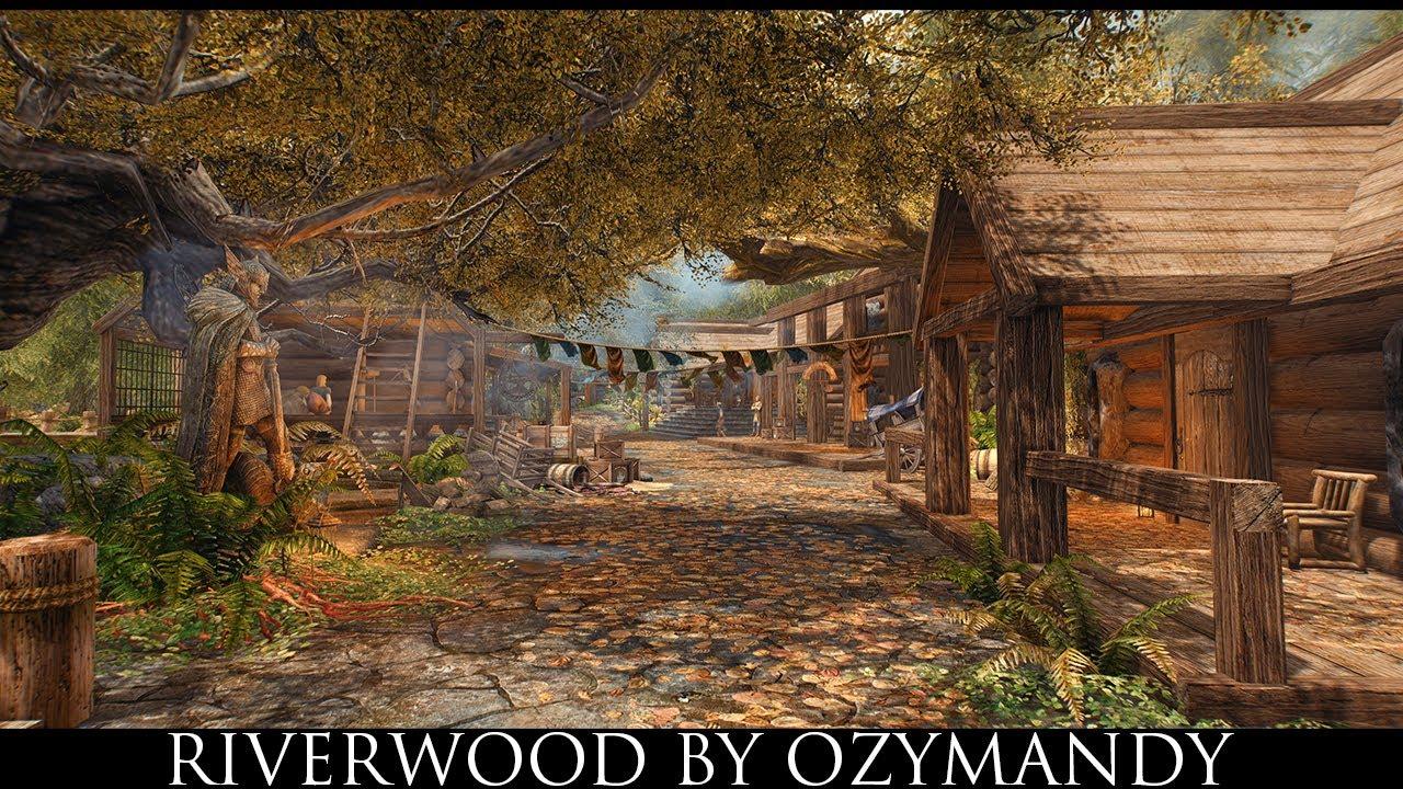Skyrim SE Mods: Riverwood by Ozymandy - YouTube
