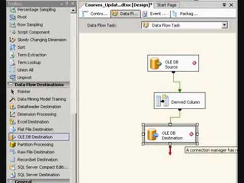 Updating A Table With SSIS