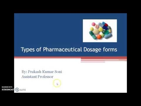 Pharmaceutical Dosage Forms by Prakash Soni