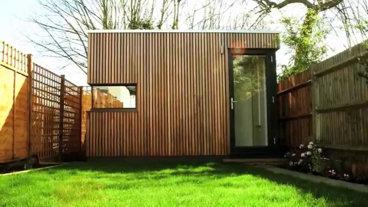 office garden. Garden Office Pod - Space Solution For Terraced South London House YouTube