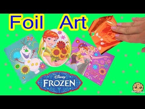Disney Frozen Fever Queen Elsa, Princess Anna Olaf Sticker Foil Art Easy Fun Craft Playset Review