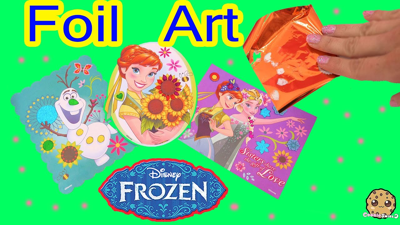 Olaf Gifi Disney Frozen Fever Queen Elsa Princess Anna Olaf Sticker Foil Art Easy Fun Craft Playset Review