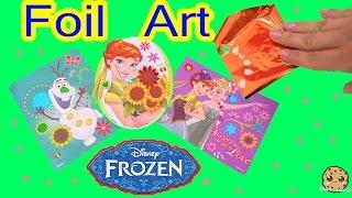 disney frozen fever queen elsa princess anna olaf sticker foil art easy fun craft playset review