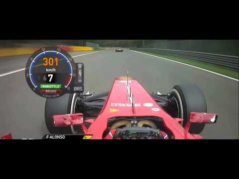 F1 2013 - Alonso vs Grosjean vs Hamilon In Belgium