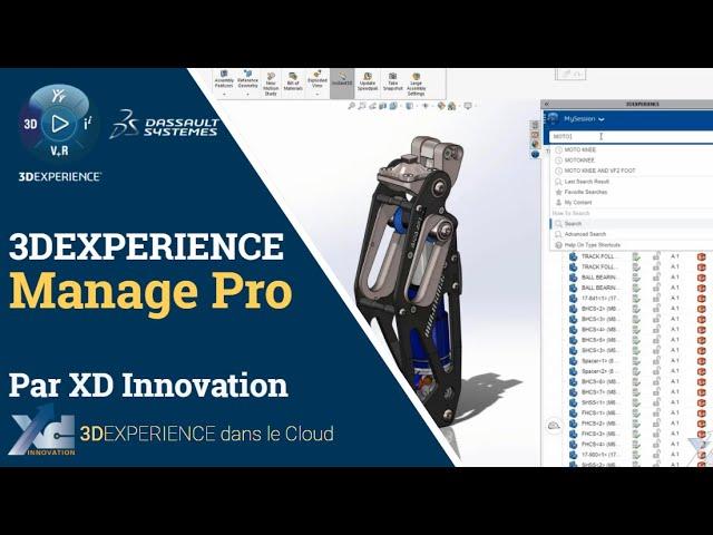 Offre Manage Pro - Connecter SOLIDWORKS à la 3DEXPERIENCE