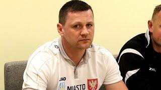 Trener Korony Ostrołęka Marcin Truszkowski o meczu z Huraganem Wołomin