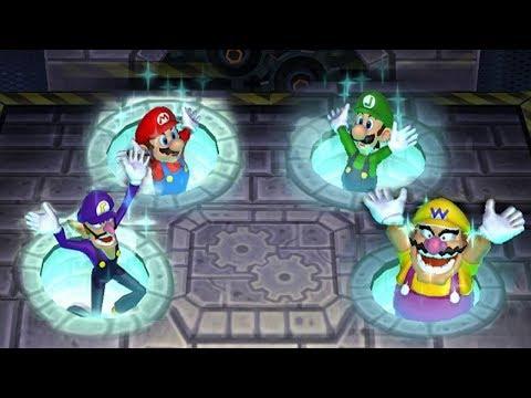 Mario Party 9 MiniGames - Mario Vs Luigi Vs Wario Vs Waluigi (Master CPU)