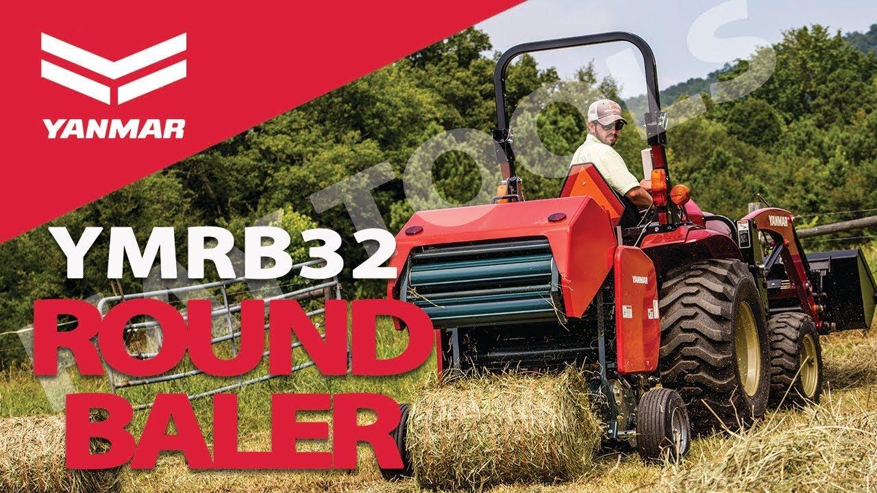 Hay Tools 3 - Yanmar YMRB32 Compact Round Hay Baler for Hay Harvest -  Yanmar Tractor