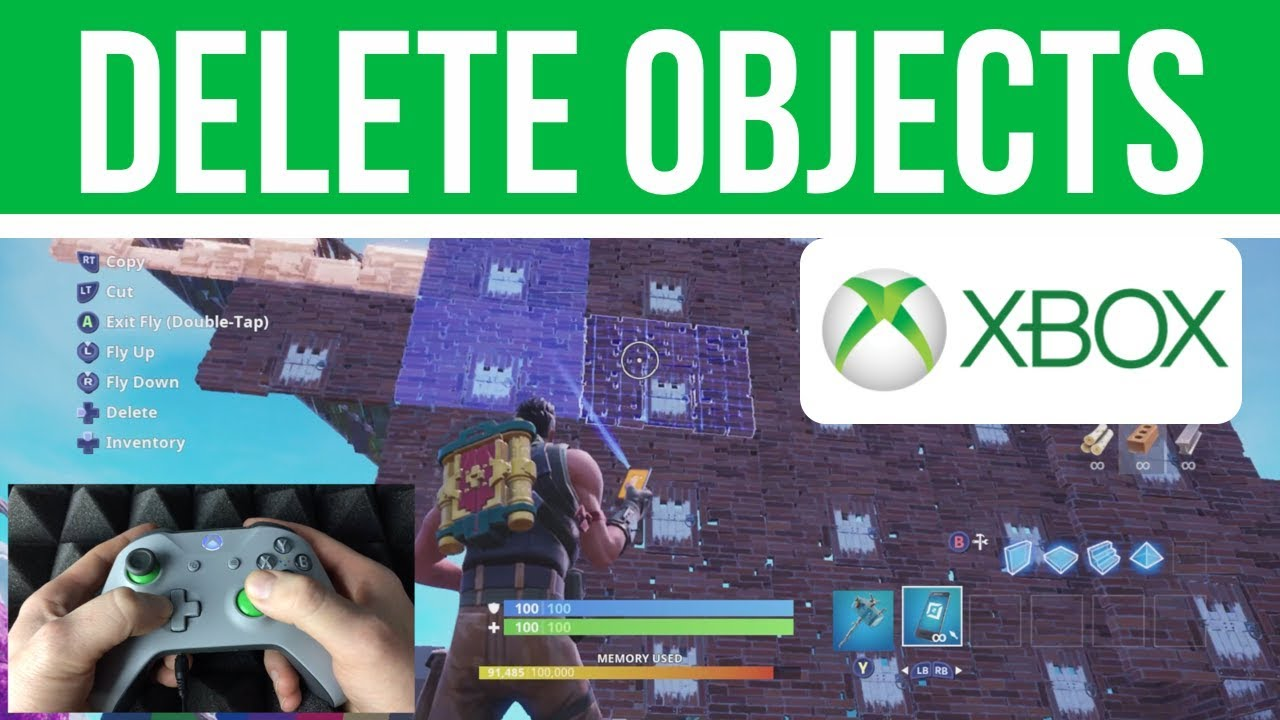 How To Remove Whole Biulding In Creative Fortnite How To Delete Objects In Creative Mode Fortnite Xbox One Xbox One S Youtube