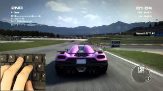 GRID 2 PC Multiplayer: How I play with my keyboard - Koenigsegg Agera R & Alfa Romeo 8C Competizione