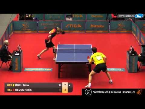 Timo Boll vs Robin Devos (2016 Olympic Qualification)