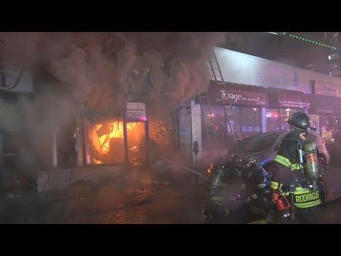 Cliffside Park,NJ Fire Department Multiple Alarm Fire  9/5/17