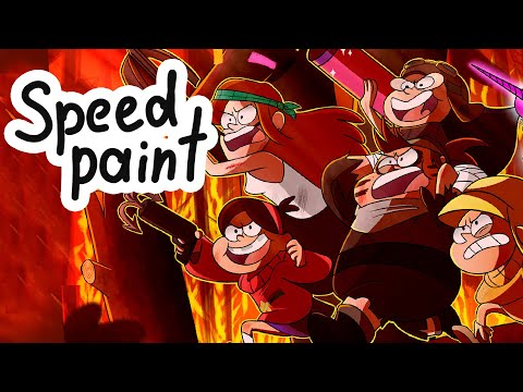 [SpeedPaint] Gravity Falls- Girl power
